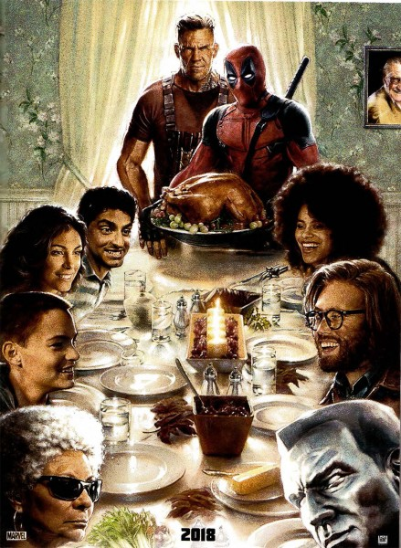 """Die Figuren aus """"Deadpool 2"""" auf dem ersten Poster zum Film"""