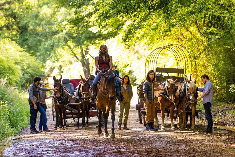"""Michonne auf dem ersten Bild zur 9. Staffel """"The Walking Dead"""""""