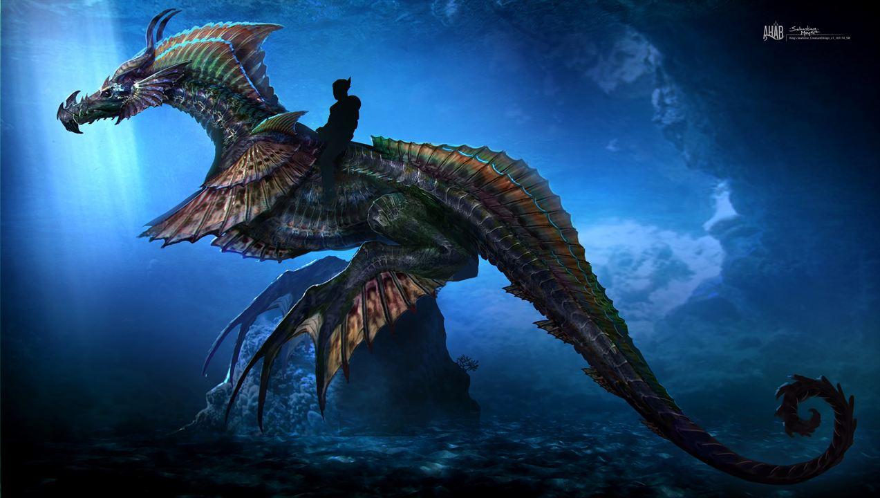 Wer reitet auf dem Seepferdchen-Drachen?