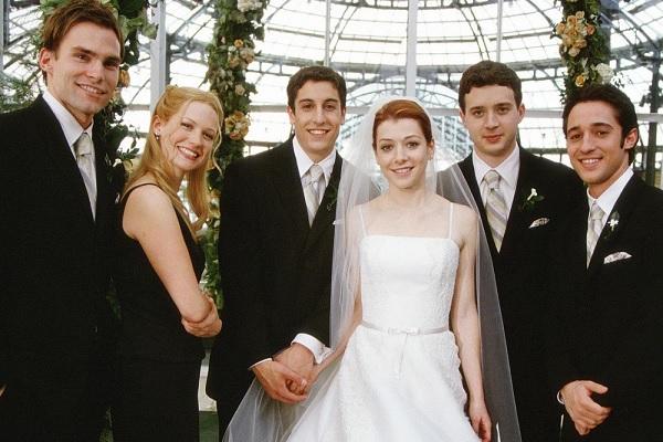 American Pie – Jetzt wird geheiratet : Bild Alyson Hannigan, Eddie Kaye Thomas, January Jones, Jason Biggs, Jesse Dylan