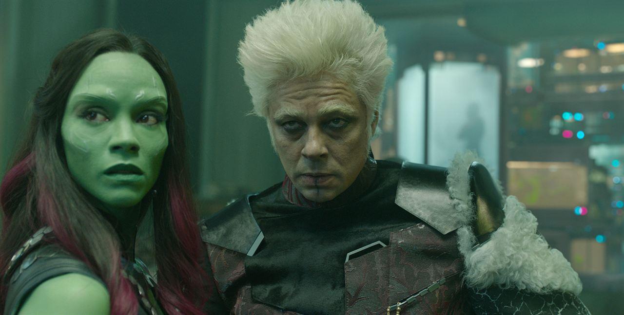 Guardians Of The Galaxy : Bild Benicio Del Toro, Zoe Saldana
