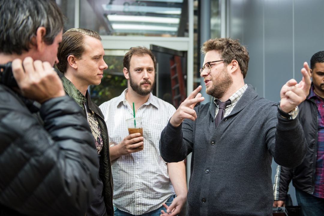The Interview : Bild Brandon Trost, Evan Goldberg, Seth Rogen