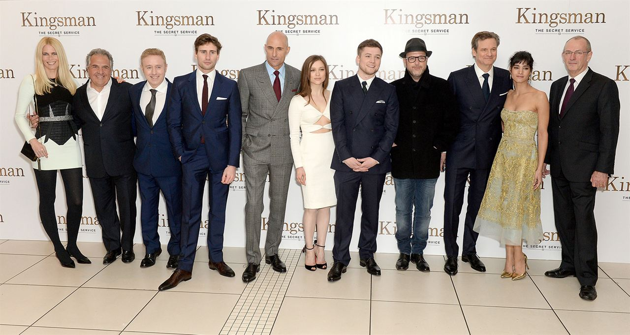Kingsman: The Secret Service : Vignette (magazine) Claudia Schiffer, Colin Firth, Mark Strong, Matthew Vaughn, Sofia Boutella