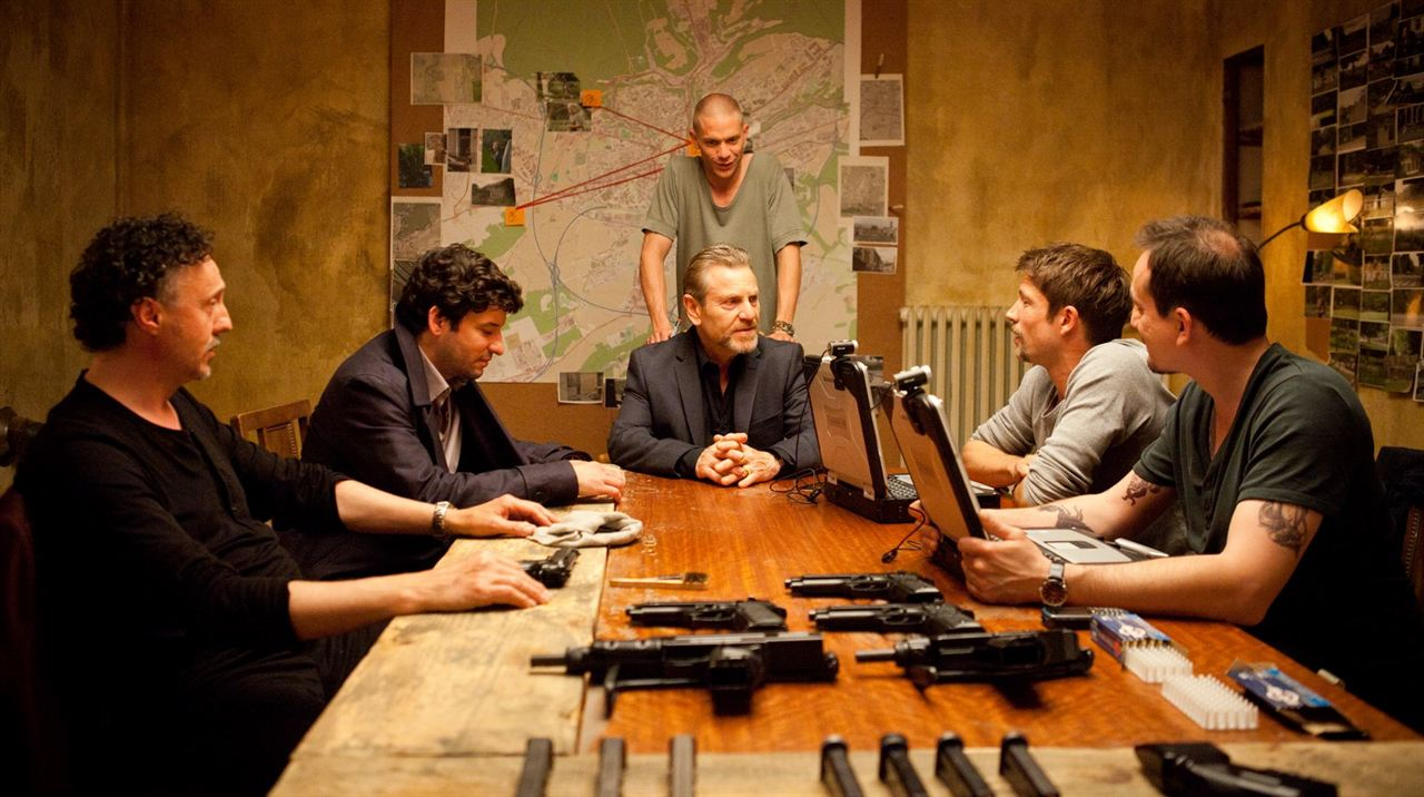 Die Räuber : Bild Eric Caravaca, Luc Schiltz, Marc Baum, Mickey Hardt, Serge Wolf