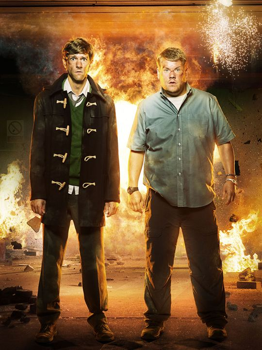 Bild James Corden, Mathew Baynton