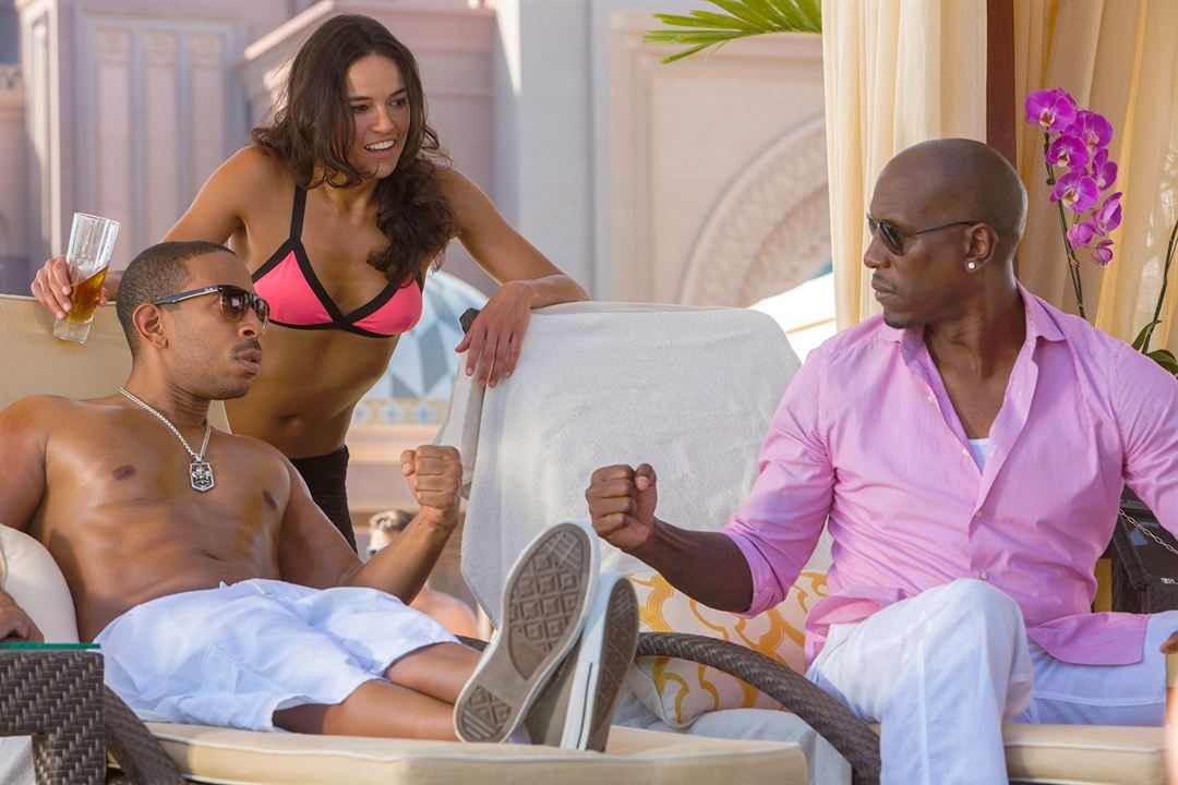 Fast & Furious 7 : Bild Ludacris, Michelle Rodriguez, Tyrese Gibson