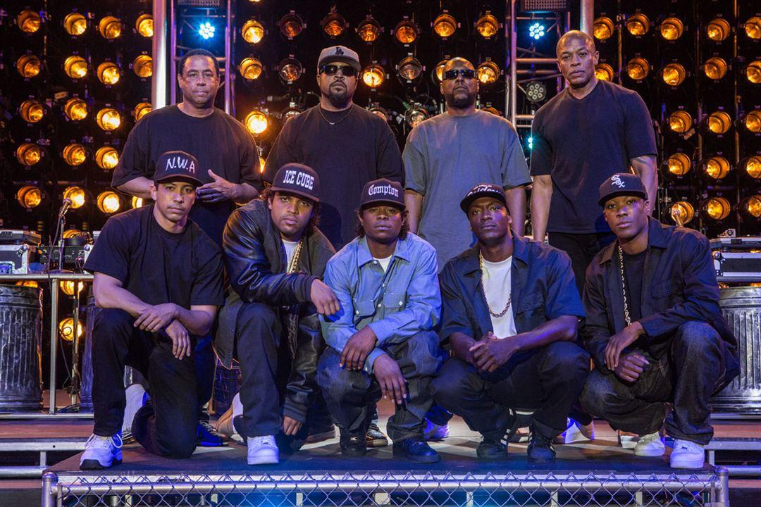 Straight Outta Compton : Bild Aldis Hodge, Corey Hawkins, Dr. Dre, Ice Cube, Jason Mitchell