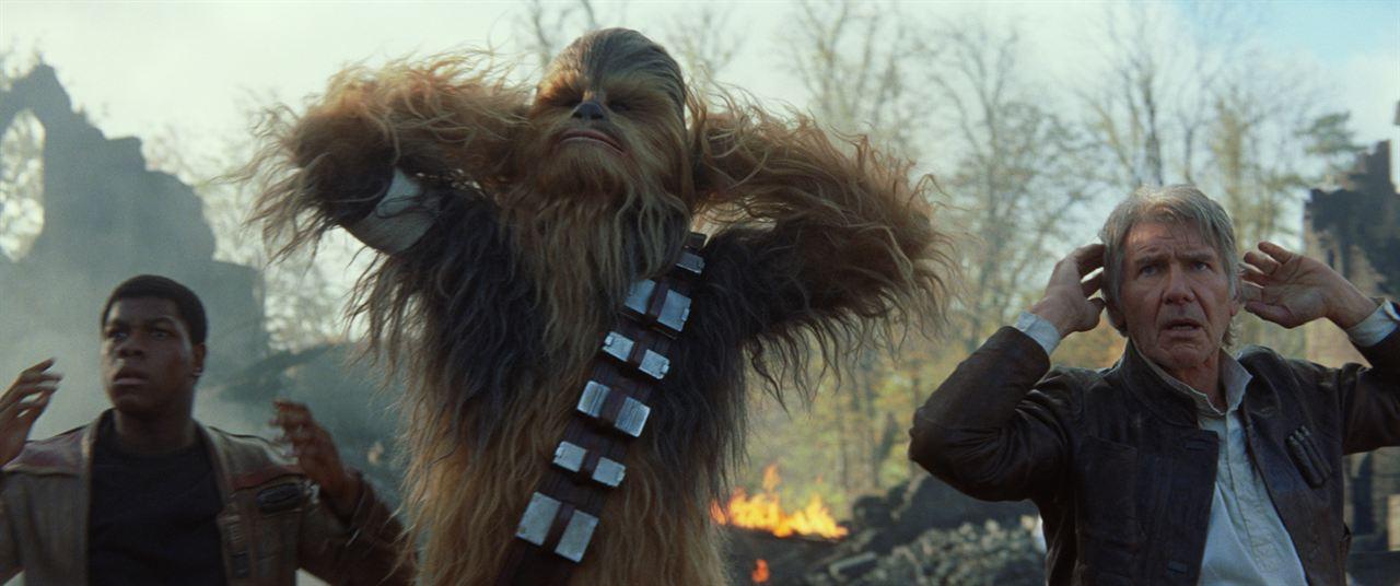 Star Wars 7: Das Erwachen der Macht : Bild Harrison Ford, John Boyega, Peter Mayhew