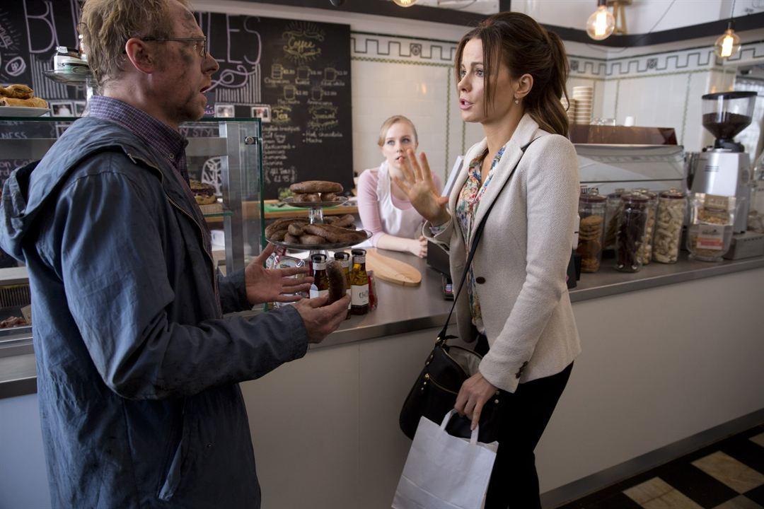 Zufällig allmächtig : Bild Kate Beckinsale, Simon Pegg