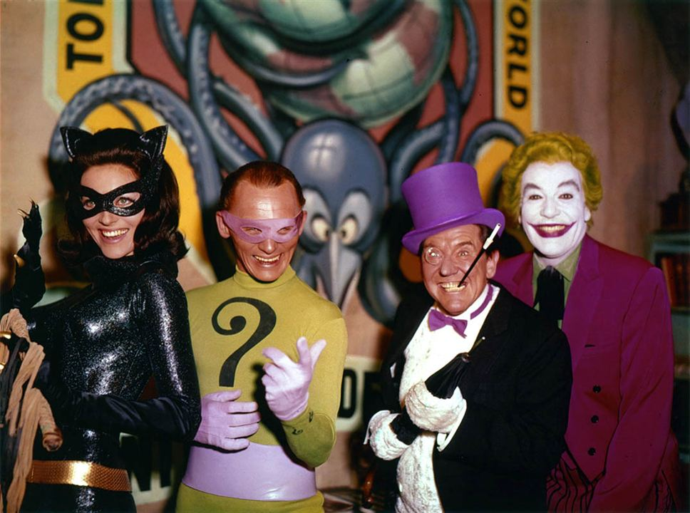 Batman hält die Welt in Atem : Bild Burgess Meredith, Cesar Romero, Frank Gorshin, Lee Meriwether