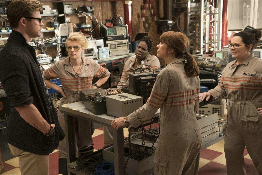 Ghostbusters : Bild Chris Hemsworth, Kate McKinnon, Kristen Wiig, Leslie Jones (II), Melissa McCarthy