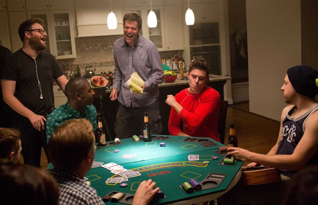 Bad Neighbors 2 : Bild Christopher Mintz-Plasse, Jerrod Carmichael, Nicholas Stoller, Seth Rogen, Zac Efron