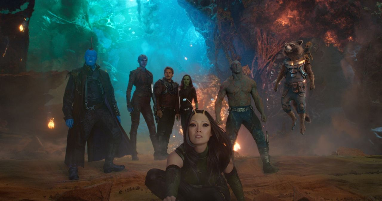 Guardians Of The Galaxy Vol. 2 : Bild Chris Pratt, Dave Bautista, Karen Gillan, Michael Rooker, Pom Klementieff