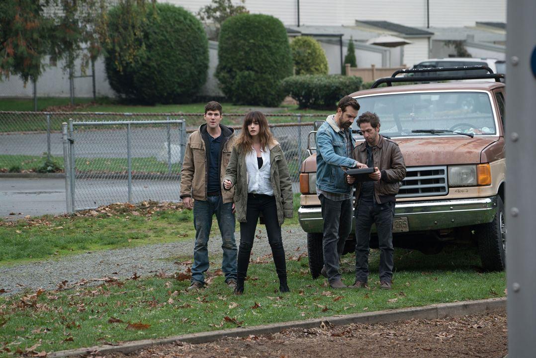Colossal : Bild Anne Hathaway, Austin Stowell, Jason Sudeikis, Tim Blake Nelson