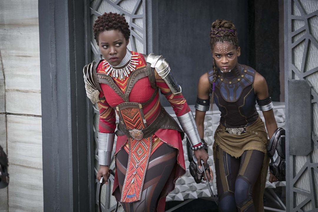 Black Panther : Bild Letitia Wright, Lupita Nyong'o