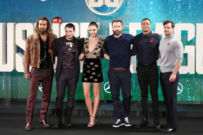 Justice League : Vignette (magazine) Ben Affleck, Ezra Miller, Gal Gadot, Henry Cavill, Jason Momoa