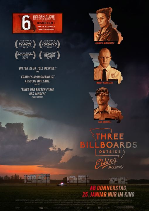 Three Billboards Outside Ebbing, Missouri : Kinoposter