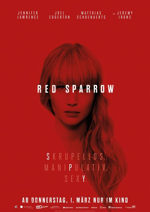 Red Sparrow : Kinoposter