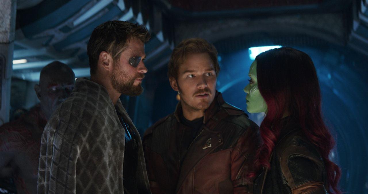 Avengers 3: Infinity War : Bild Chris Hemsworth, Chris Pratt, Zoe Saldana