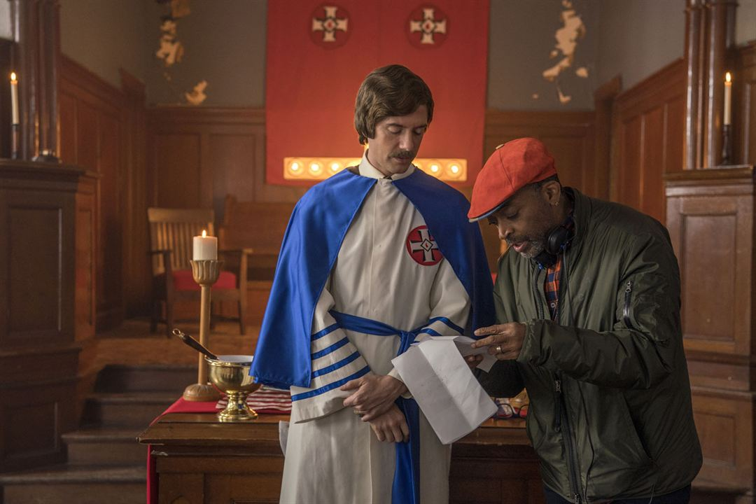 BlacKkKlansman : Bild Spike Lee, Topher Grace