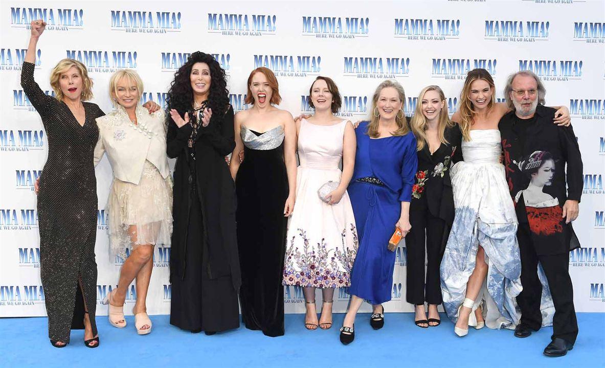 Mamma Mia 2: Here We Go Again : Vignette (magazine) Alexa Davies, Amanda Seyfried, Benny Andersson, Cher, Christine Baranski