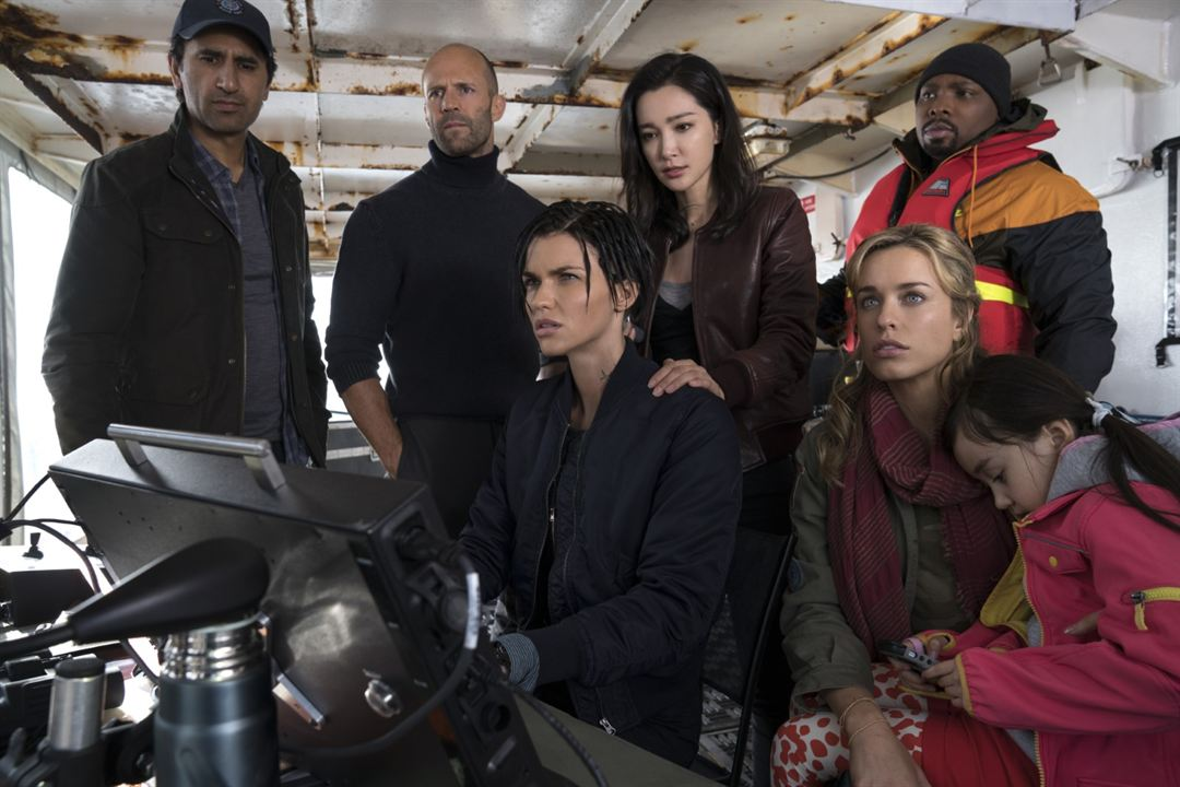 Meg : Bild Bingbing Li, Cliff Curtis, Jason Statham, Jessica McNamee, Page Kennedy