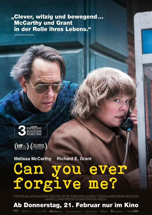Can You Ever Forgive Me? : Kinoposter