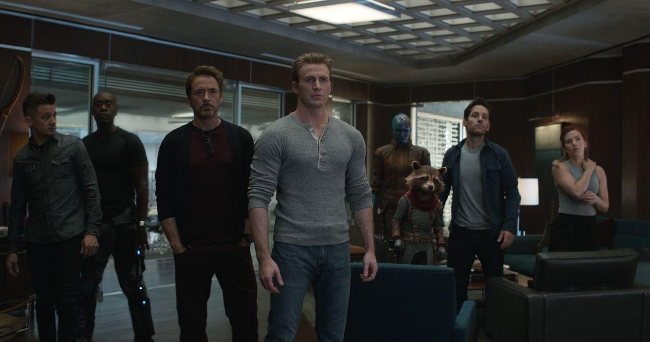Avengers 4: Endgame : Bild Chris Evans, Don Cheadle, Jeremy Renner, Karen Gillan, Paul Rudd