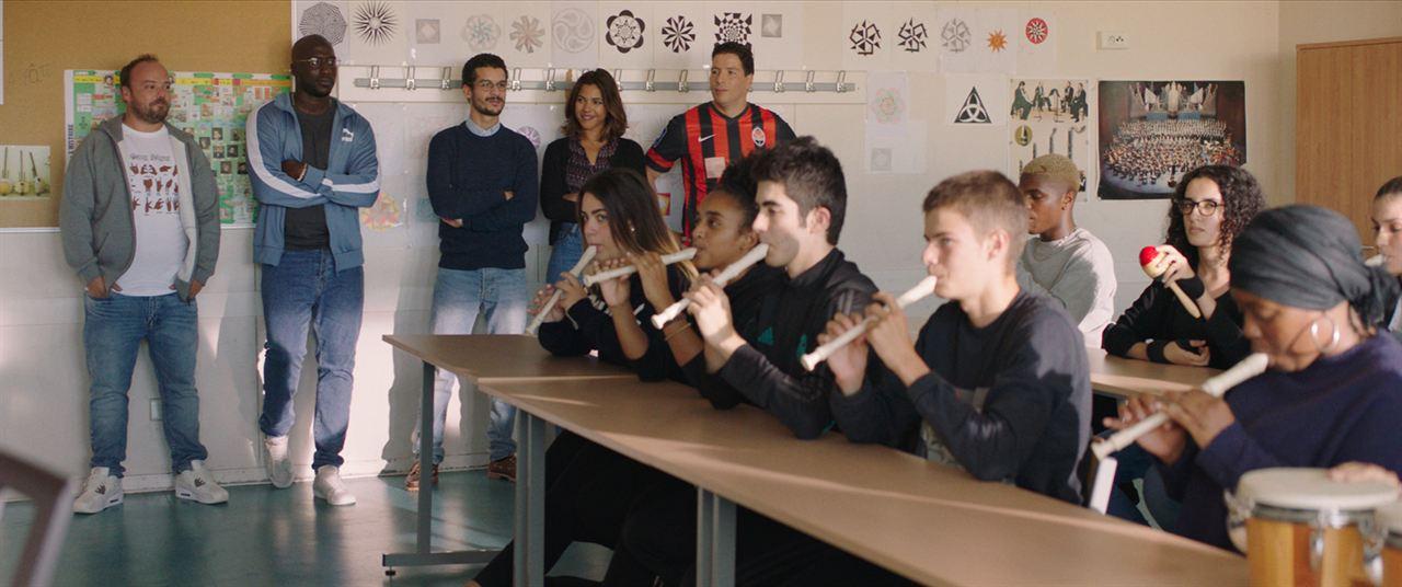 La vie scolaire – Schulalltag : Bild Alban Ivanov, Moussa Mansaly, Soufiane Guerrab, Zita Hanrot
