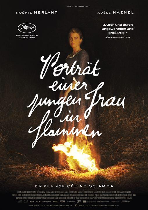 Porträt einer jungen Frau in Flammen : Kinoposter