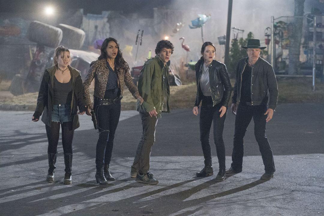 Zombieland 2: Doppelt hält besser : Bild Abigail Breslin, Emma Stone, Jesse Eisenberg, Rosario Dawson, Woody Harrelson