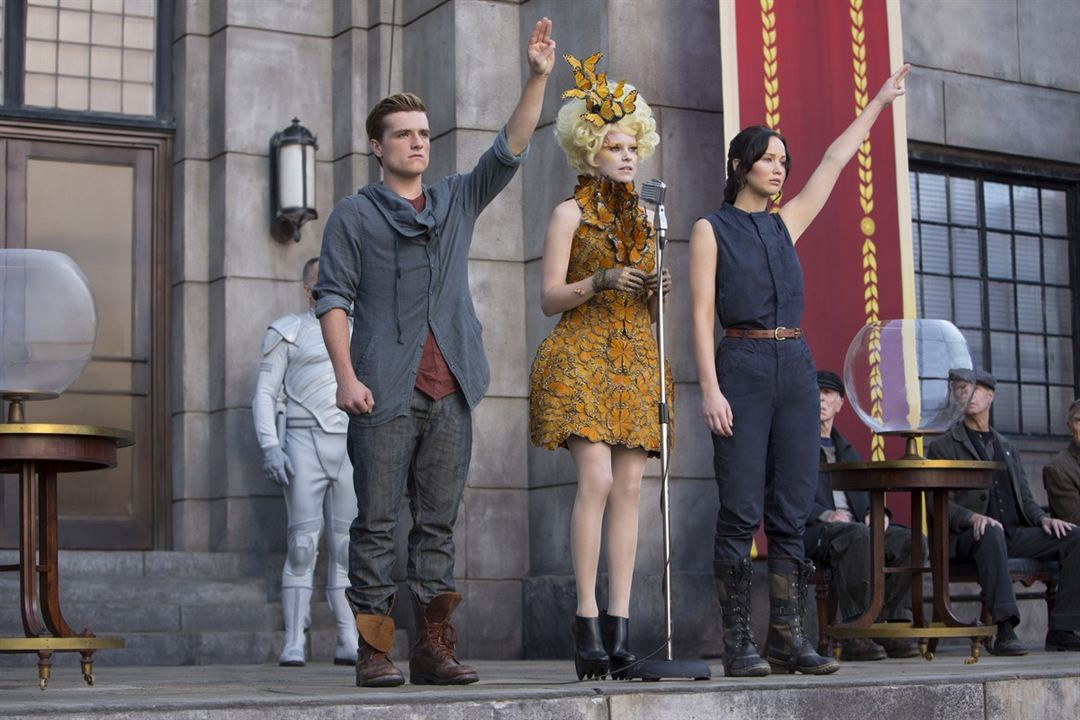 Die Tribute von Panem 2 - Catching Fire : Bild Elizabeth Banks, Jennifer Lawrence, Josh Hutcherson