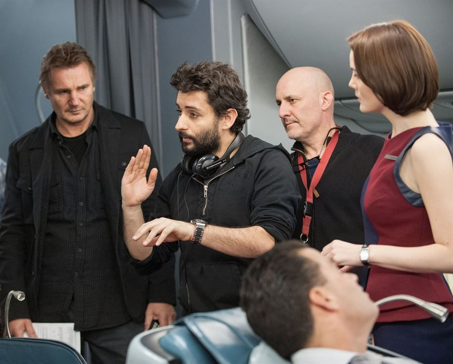 Non-Stop : Bild Jaume Collet-Serra, Liam Neeson, Michelle Dockery