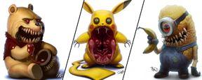 Winnie Puuh, Pikachu & Co.: So fies sehen die Cartoon-Helden eurer Kindheit als Monster aus