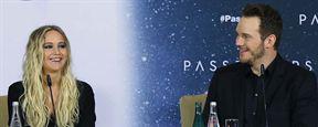 """Pressekonferenz zu """"Passengers"""" mit Jennifer Lawrence und Chris Pratt: """"Es ist wie ein Geschenk, so ein Drehbuch in die Hände zu bekommen"""""""