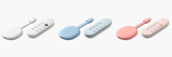 Google Chromecast mit Google Tv Fernbedienung Farbauswahl