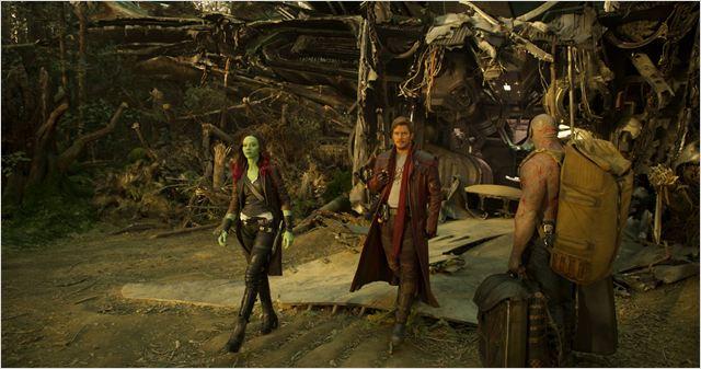 Guardians Of The Galaxy Vol. 2 : Bild Chris Pratt, Dave Bautista, Zoe Saldana