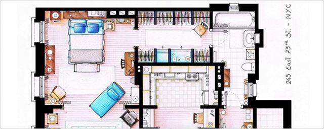"""Von """"Friends"""" bis """"The Big Bang Theory"""": 15 Grundrisse von ikonischen Serien-Wohnungen"""
