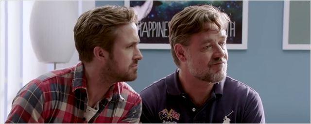 """""""The Nice Guys"""": Ryan Gosling und Russel Crowe gehen in witzigen Videos bei """"The Big Bang Theory""""-Star Melissa Rauch in Paartherapie"""