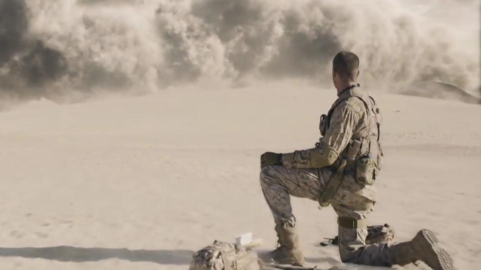 überleben Ein Soldat