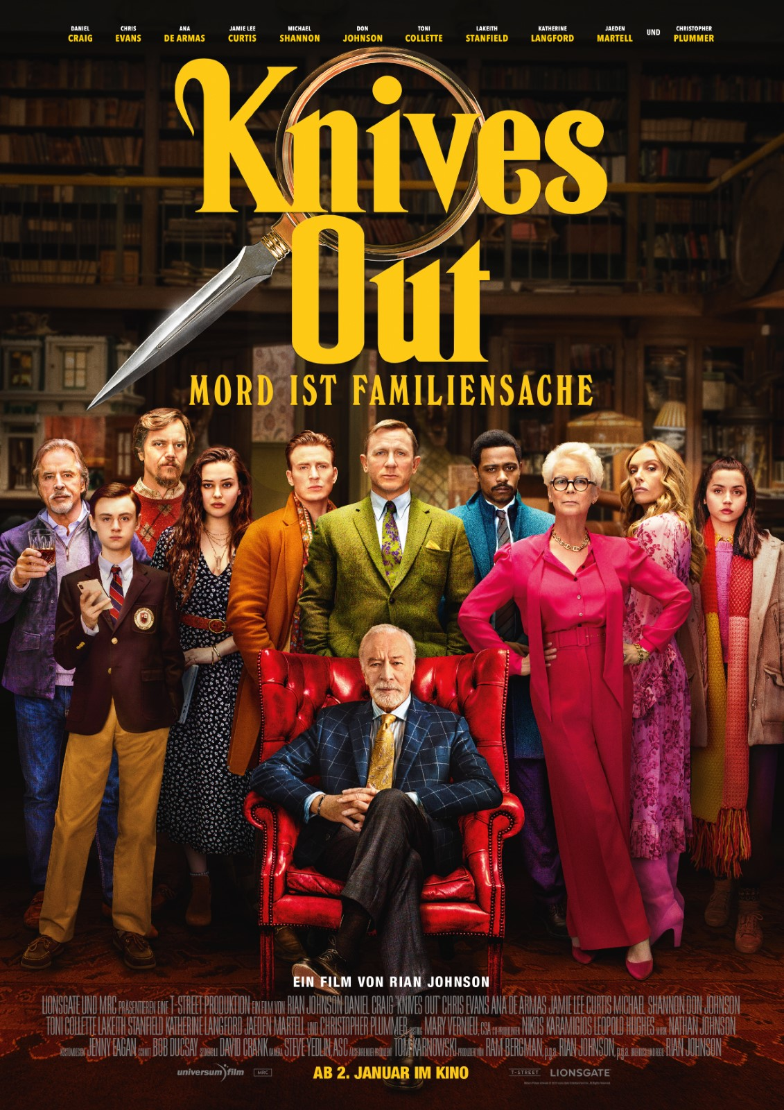 Knives Out - Mord ist Familiensache von Rian Johnson - Blu-ray ...