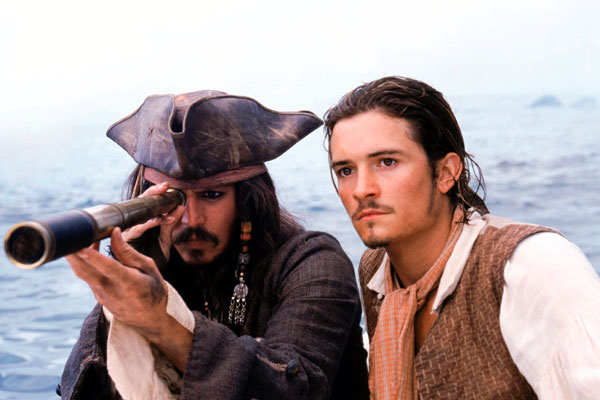 Fluch der Karibik : Bild Johnny Depp, Orlando Bloom