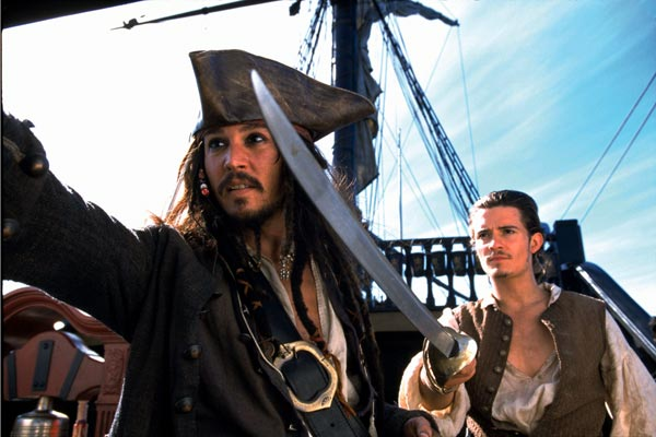 Fluch der Karibik : Bild Johnny Depp, Orlando Bloom