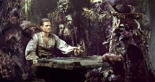 Pirates of the Caribbean - Fluch der Karibik 2 : Bild Bill Nighy, Orlando Bloom