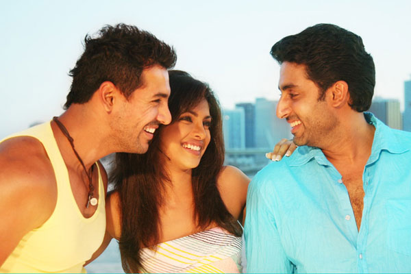 Echte Freunde - Dostana: John Abraham (II), Priyanka Chopra Jonas, Abhishek Bachchan, Tarun Mansukhani