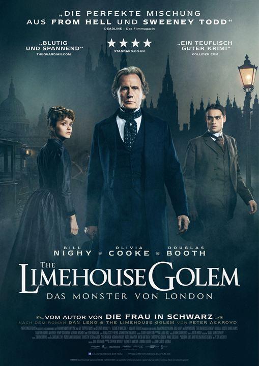 """Das Hauptdarstellertrio von """"The Limehouse Golem"""" auf dem deutschen Poster zum Film"""