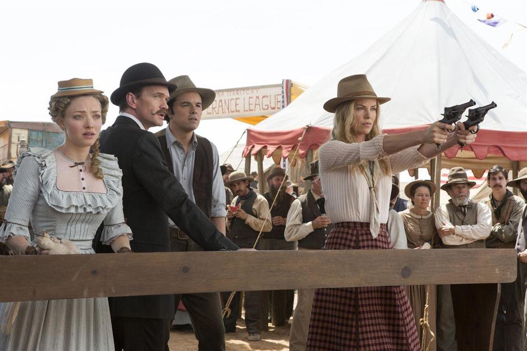 A Million Ways To Die In The West: Amanda Seyfried, Seth MacFarlane, Charlize Theron, Neil Patrick Harris