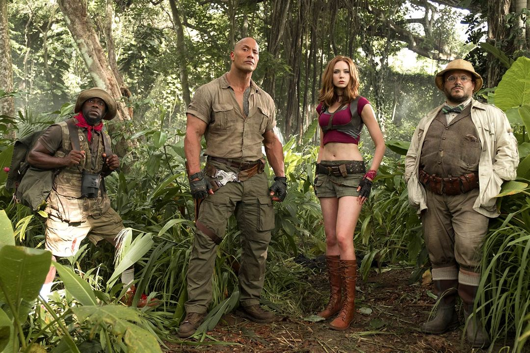 Jumanji: Willkommen im Dschungel : Bild Dwayne Johnson, Jack Black, Karen Gillan, Kevin Hart