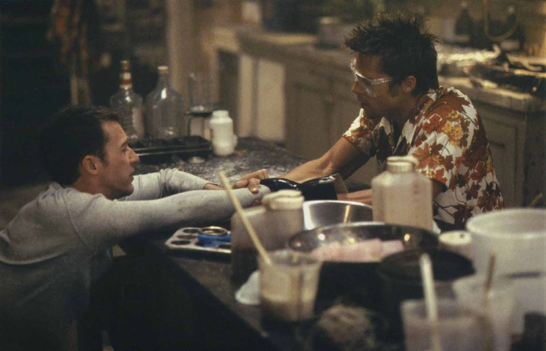 Fight Club: Brad Pitt, Edward Norton