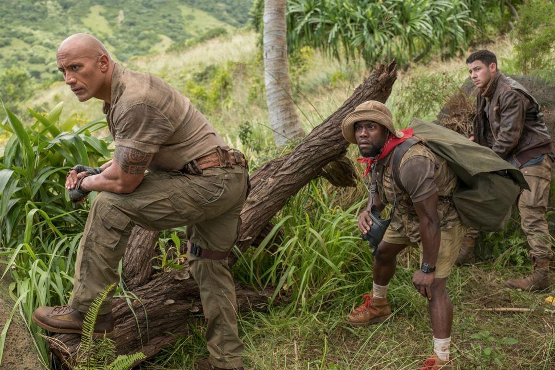 Jumanji: Willkommen im Dschungel : Bild Dwayne Johnson, Kevin Hart, Nick Jonas